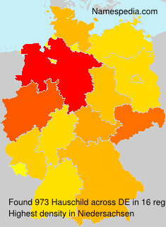 Surname Hauschild in Germany