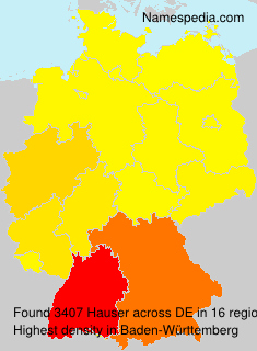 Surname Hauser in Germany
