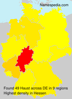 Surname Haust in Germany