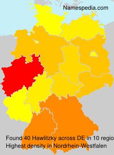 Familiennamen Hawlitzky - Germany