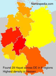 Surname Hayat in Germany