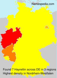 Familiennamen Hayrettin - Germany