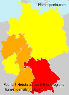 Surname Hebda in Germany