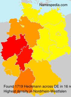 Surname Heckmann in Germany