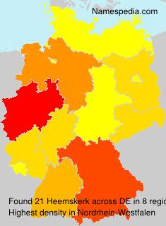 Familiennamen Heemskerk - Germany