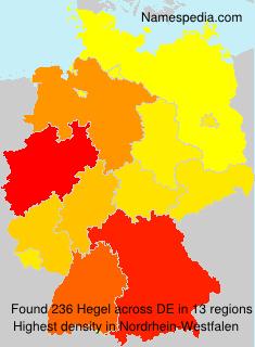 Surname Hegel in Germany