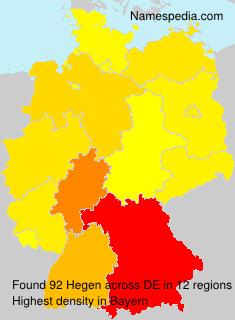 Familiennamen Hegen - Germany