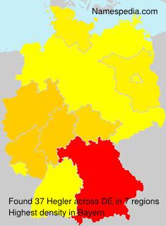 Surname Hegler in Germany