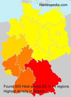 Surname Heid in Germany