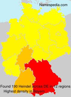 Familiennamen Heindel - Germany