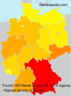 Surname Heinel in Germany