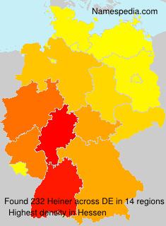 Surname Heiner in Germany