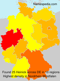 Surname Heinick in Germany