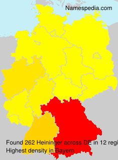 Surname Heininger in Germany