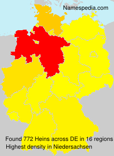 Surname Heins in Germany