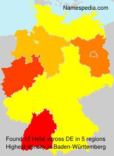 Surname Helal in Germany