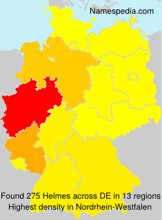 Surname Helmes in Germany
