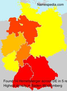 Surname Hemetsberger in Germany
