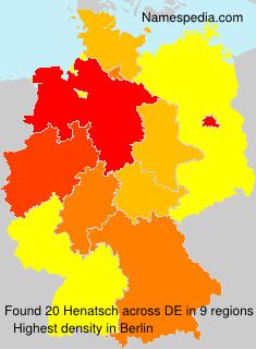 Surname Henatsch in Germany