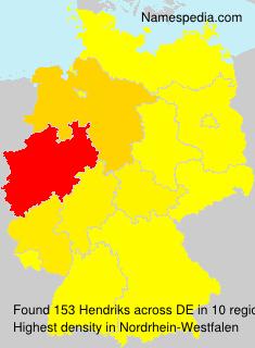 Surname Hendriks in Germany
