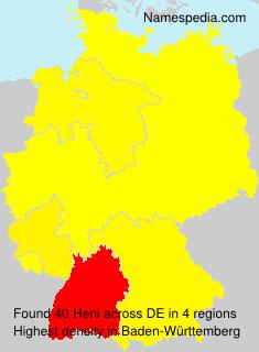 Surname Heni in Germany