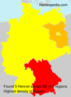 Surname Hennet in Germany