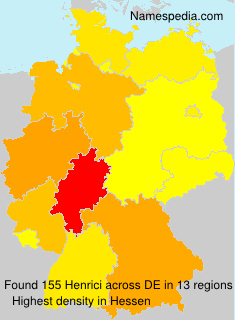 Surname Henrici in Germany