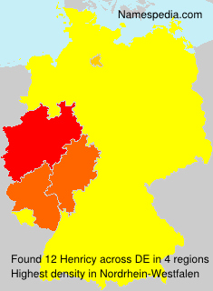 Surname Henricy in Germany