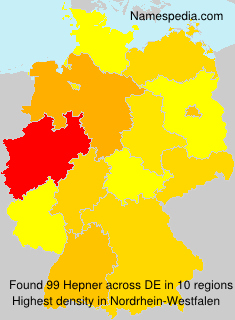 Surname Hepner in Germany