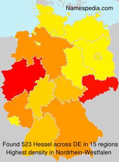 Surname Hessel in Germany