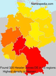 Surname Hessler in Germany