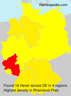 Surname Hever in Germany