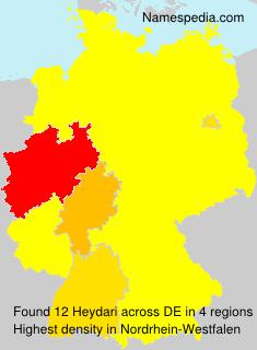 Surname Heydari in Germany