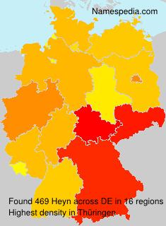 Surname Heyn in Germany