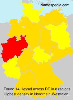 Familiennamen Heysel - Germany