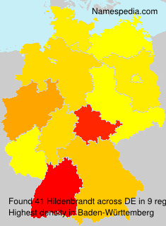 Surname Hildenbrandt in Germany