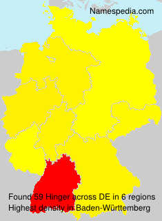 Surname Hinger in Germany