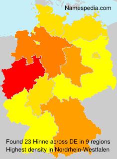 Surname Hinne in Germany