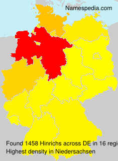 Surname Hinrichs in Germany