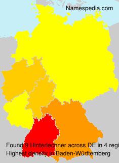Familiennamen Hinterlechner - Germany