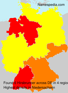 Familiennamen Hirsbrunner - Germany