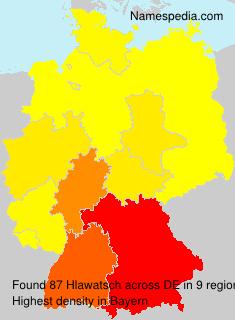 Surname Hlawatsch in Germany