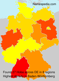 Familiennamen Hoba - Germany