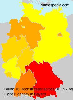 Familiennamen Hochstrasser - Germany