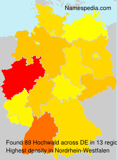 Surname Hochwald in Germany