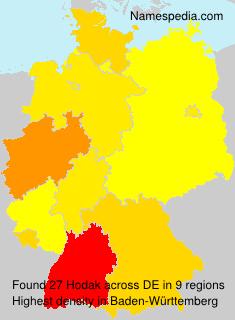 Familiennamen Hodak - Germany