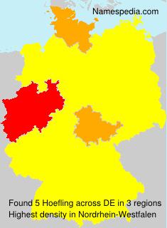 Familiennamen Hoefling - Germany