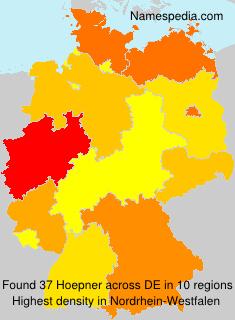 Surname Hoepner in Germany
