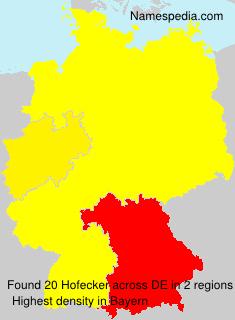 Surname Hofecker in Germany
