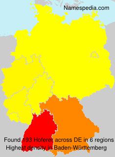 Surname Hoferer in Germany
